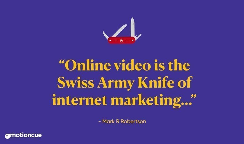 online marketing, video content, quote
