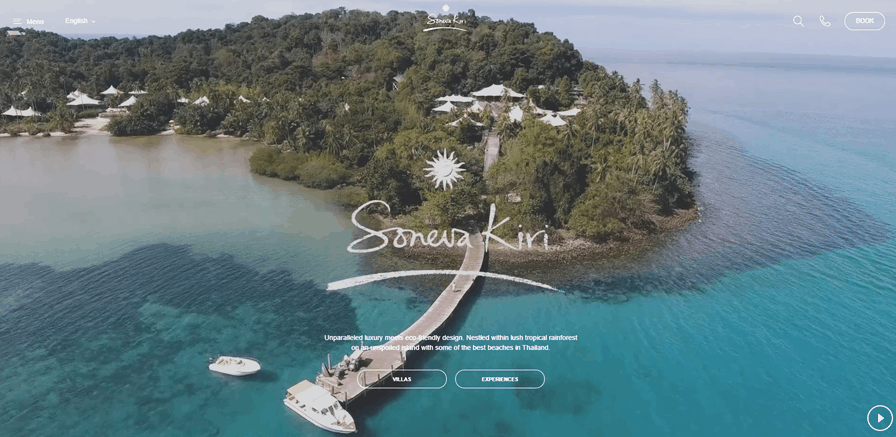 Soneva Kiri, Video landing page