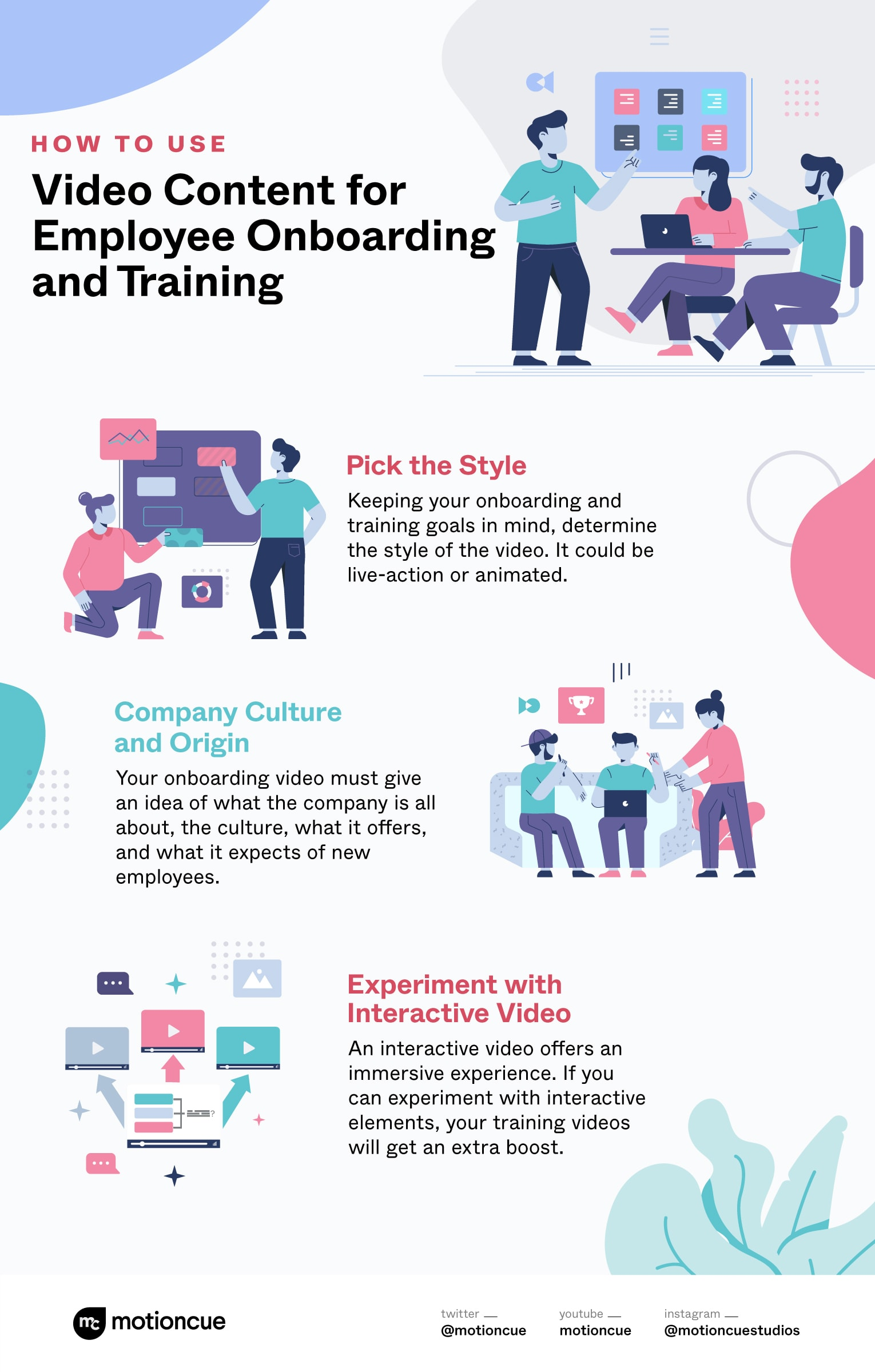 onboarding and training videos-how to use them- Infographic by MotionCue