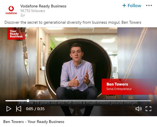 linkedin video ad