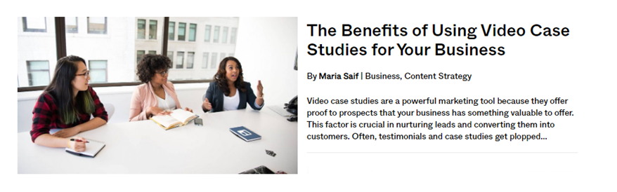 benefits of using case study videos