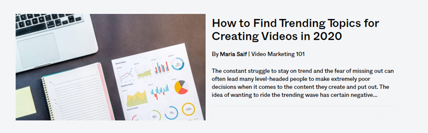 how to find trending topics for creating videos - blog post banner