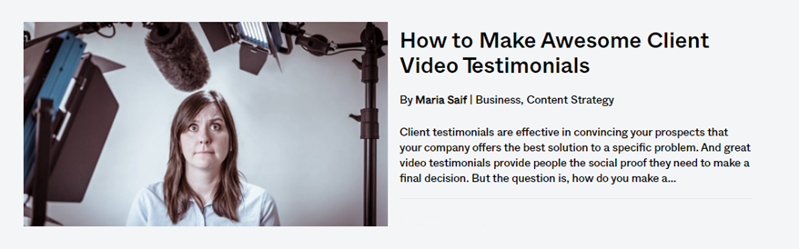 how to make awesome client testimonials - blog post - banner