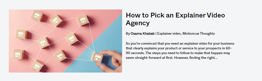 blog post - how to pick an explainer video agency - banner