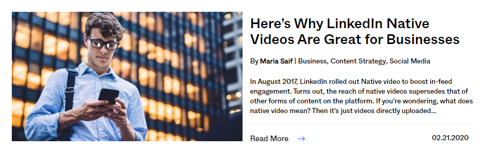 why linkedin native video is great for business