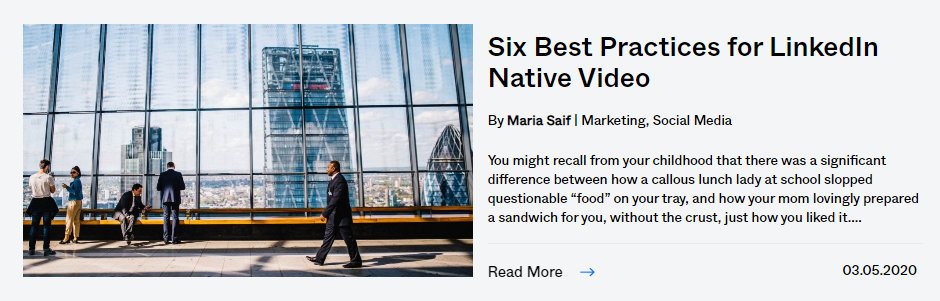 best practices for linkedin native video