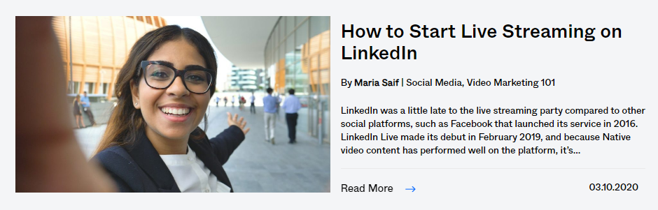 how to start live streaming on linkedIn
